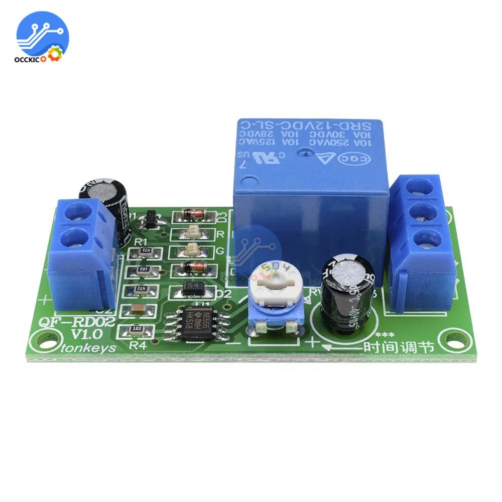 12 В реле задержки таймера NE555 щит реле времени таймер переключатель управления автомобиля реле импульсного поколения рабочий цикл
