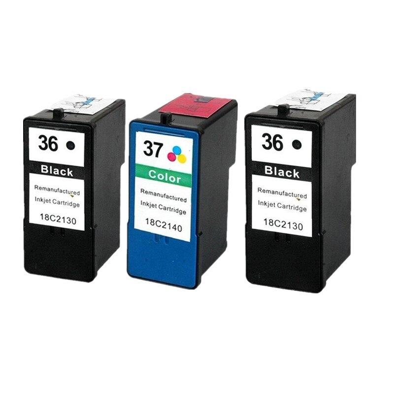 Remanufacturado para Lexmark 36 37 cartucho de tinta para Lexmark LM-36 LM-37 de inyección de tinta para x3650 x4650 x5650 x6650 x6675 Z2420 LM36 LM37