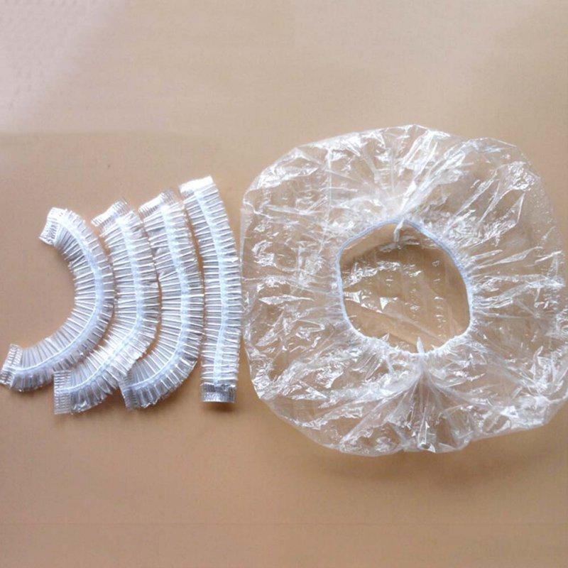 100 piezas-desechables Hotel ducha de baño de pelo claro elástico gorras sombreros nuevos gorros de ducha caliente