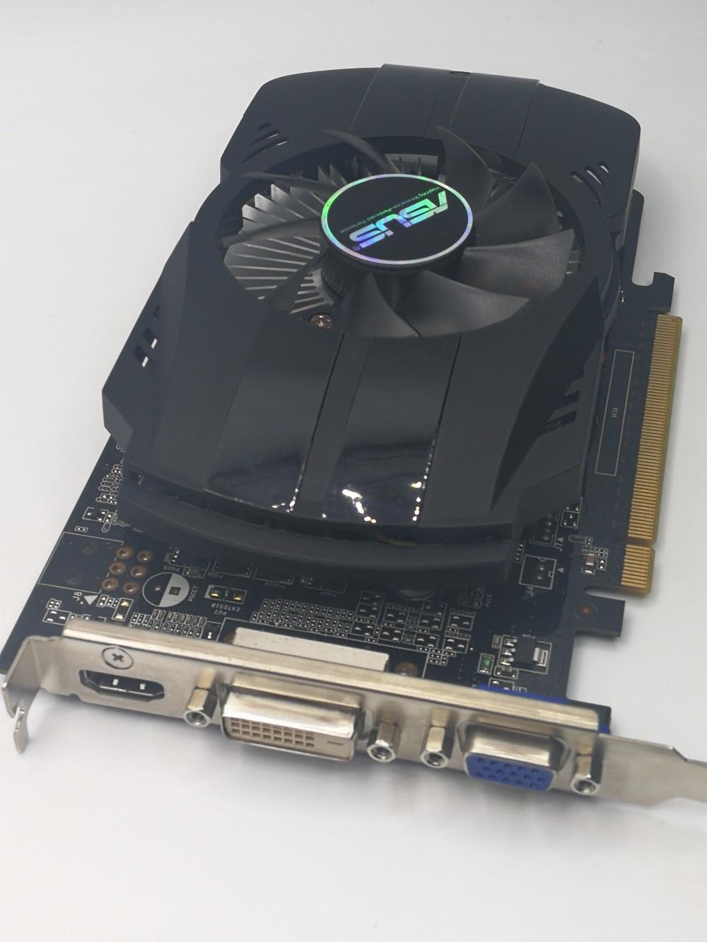 Used,original ASUS GTX 750 1G GDDR5 128bit  HD graphic card,100% tested good!