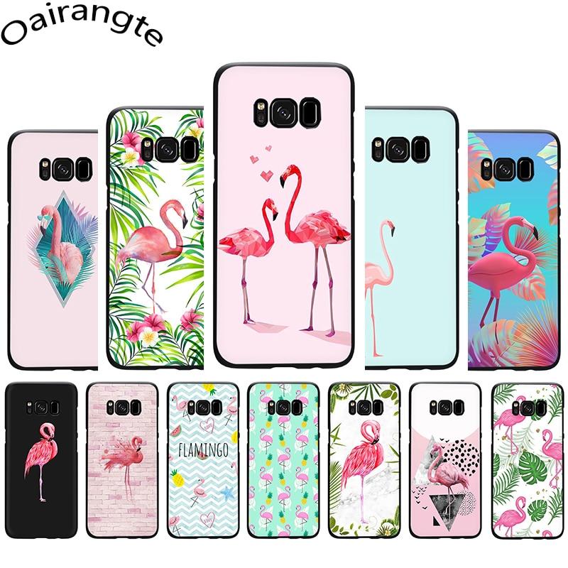 Summer Flamingos Love Soft Phone case for Samsung S6 S7 Edge S8 S9 10 Plus S10e Note 8 9 10 M10 M20 M30 M40