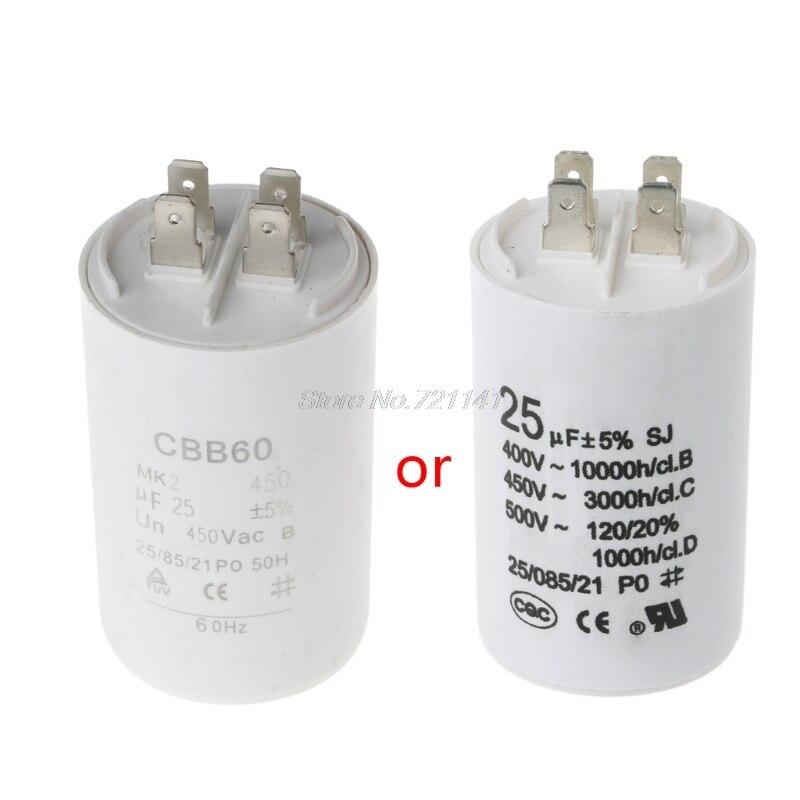 CBB60 AC450V 25UF 50/60Hz condensador Motor acondicionado compresor de inicio condensador MAR20 Dropship