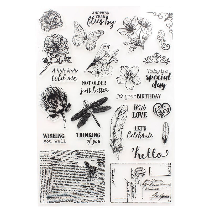 KSCRAFT Today Is A Speical Day sellos de silicona transparente para DIY Scrapbooking/fabricación de tarjetas/suministros de decoración para niños 191