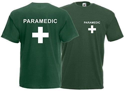 Хит 2019, модная мужская футболка, Летний стиль, парамедик, футболка с передней и задней частью, унисекс, для первой помощи, для персонала, для м...