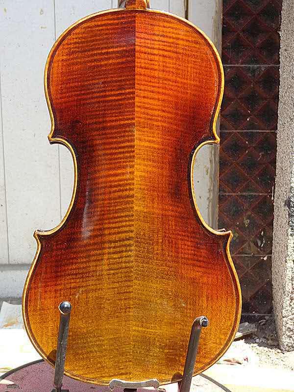 Violín Master 4/4 parte trasera de arce flameado abeto antiguo Superior hecho a mano violín