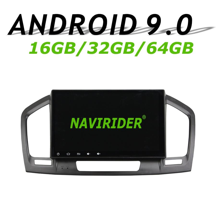 Navirider-navigation GPS pour Opel Insigina   2009-2012 écran tactile, android 9.0, 8 core, 64go de rom, radio, lecteur bluetooth, stéréo