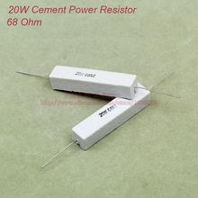 (5 unids/lote) Resistencia cerámica de cemento de 20W 68 ohmios resistencias de 68ohm TOL 5%