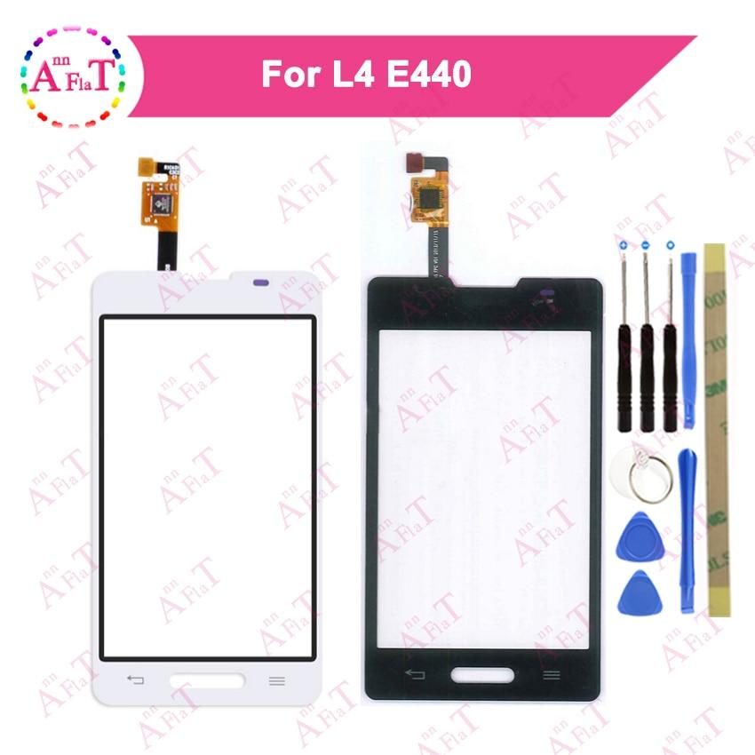 "3.7"" For LG Optimus L4 2 II E440 Touch Screen Digitizer Sensor Outer Glass Lens Panel 3m glue Free"