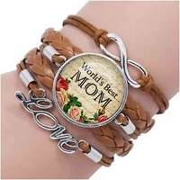2019 new hot fashion mothers day bracelet best mother bracelet worlds best mom bracelet mother day jewelry gift accessories