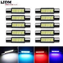 10 pz Bianco del Xeno 12 V-SMD 29mm 6614 LED Lampadine di Ricambio per SUV Car Truck Lancia Specchio cosmetico Luci Parasole Rosso blu