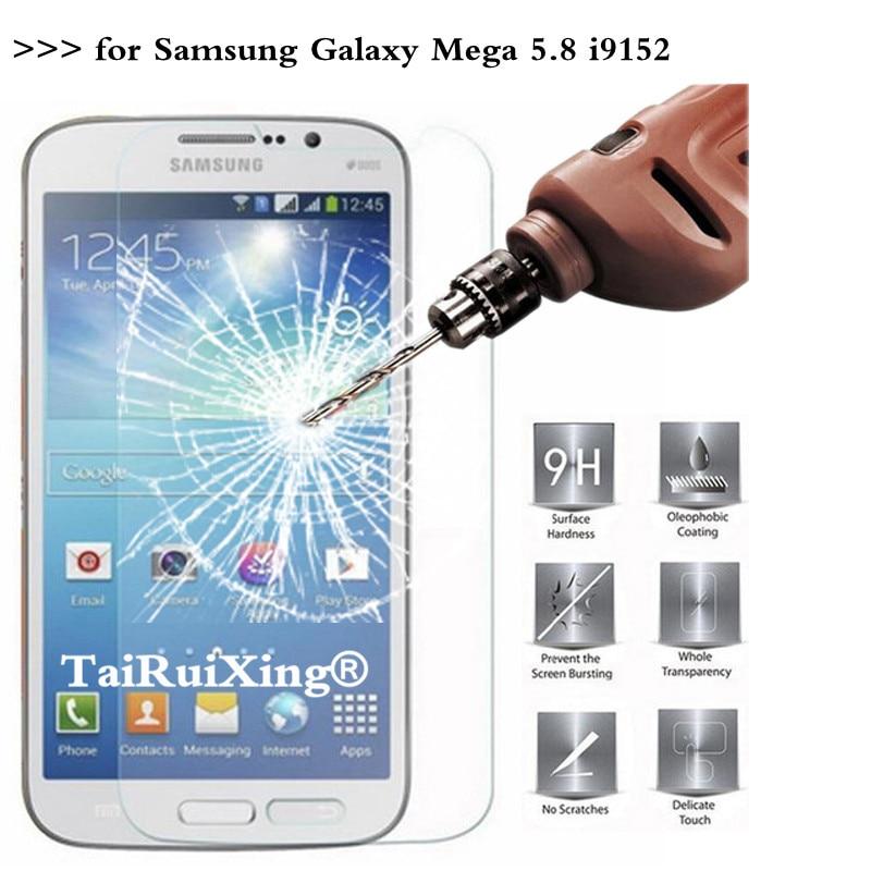 2.5D 0,26mm 9H protector de pantalla de vidrio templado para Samsung Galaxy Mega 5,8 GT-i9150 i9152 película protectora endurecida