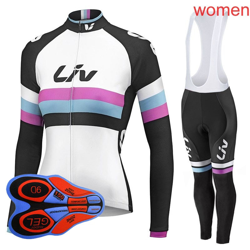 Ropa Ciclismo Mujer Jersey Set 2019 Ropa para bicicleta de montaña manga larga transpirable Mtb bicicleta Ropa deportiva Y032602