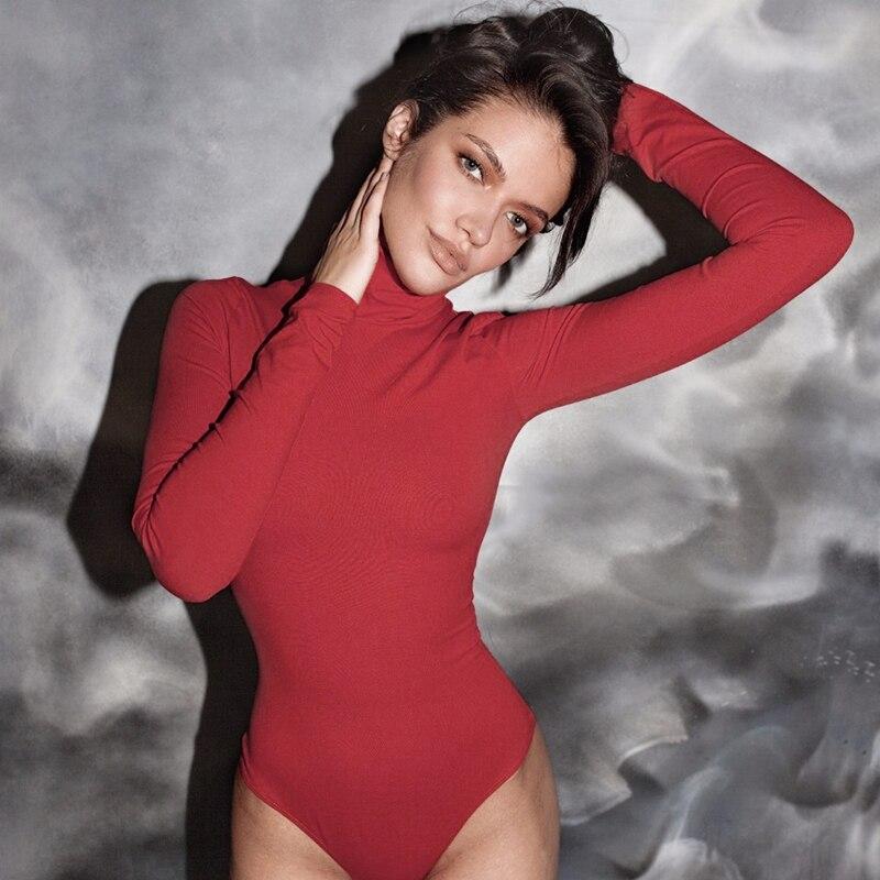 Grossas de inverno e primavera estilo fino de Gola Alta manga Comprida calças justas e veloso T camisas bodysuits emagrecimento bottoms das mulheres