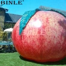 Anúncio criativo balão inflável gigante do fruto do pêssego de 3m lifelike para o evento comercial