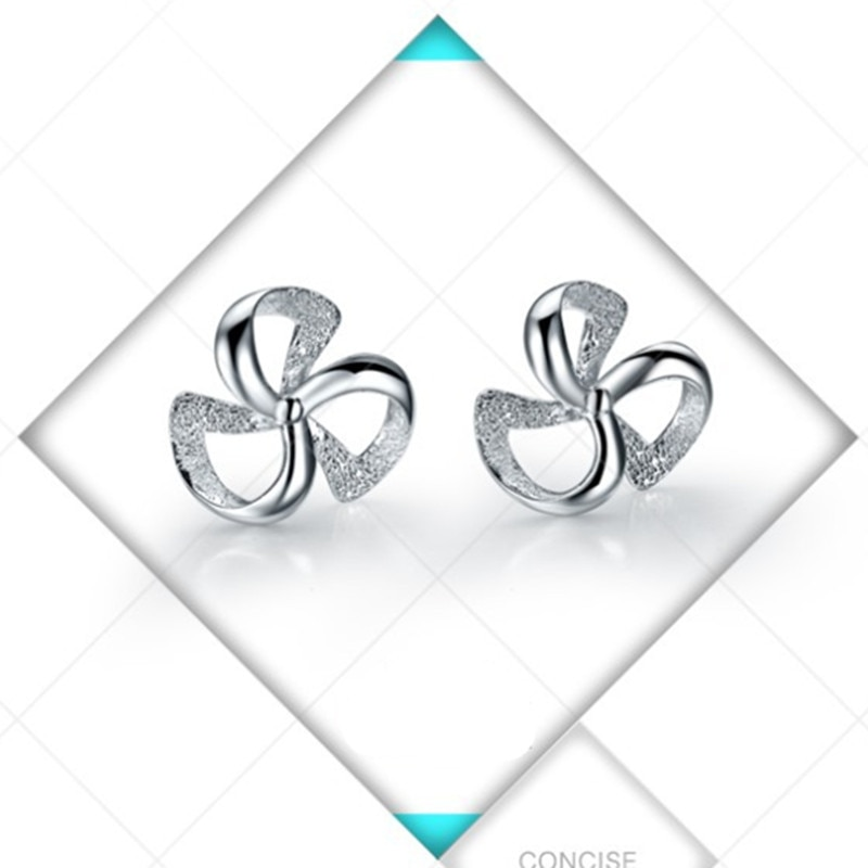 2018 Earring Oorbellen Top Fashion Plant Acrylic Brinco Brincos 925 Sterling Stud Earrings Clover Female Korean Jewelry Ear Stud