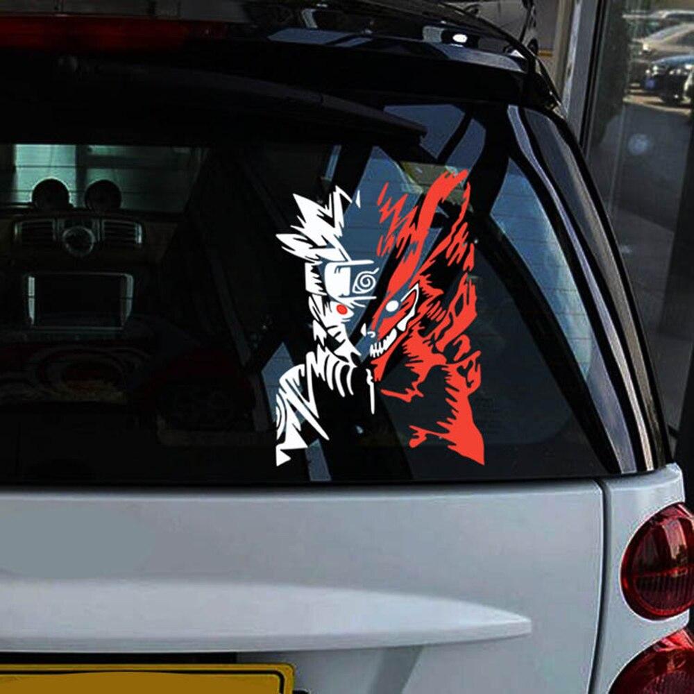 Aliauto estilo de coche de dibujos animados Naruto reflectante pegatinas de coche/etiqueta accesorios para Chevrolet Cruze Ford Focus volkswagen kia mazda