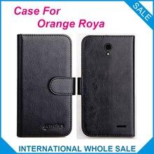 6 couleurs chaudes! Étui Roya 2016 Orange, étui exclusif en cuir de haute qualité pour le suivi du téléphone de couverture Roya Orange