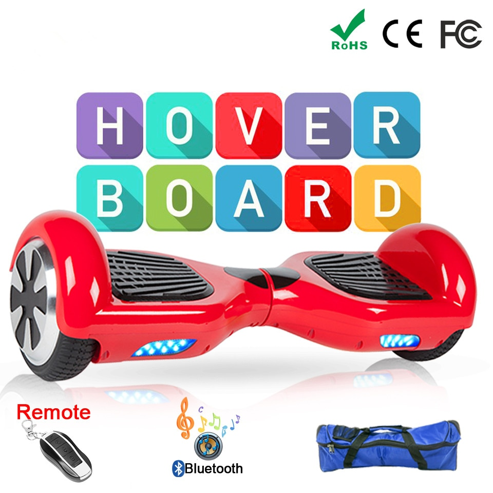 Scooter Eléctrico Hoverboards monopatín eléctrico Hoverboard eléctrico Giroskuter Patinete eléctrico por la borda Mekotron 6,5 Pouce