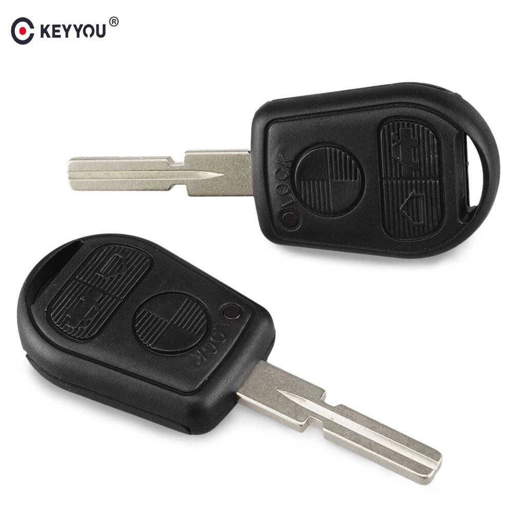 Сменный Чехол KEYYOU для пульта дистанционного управления, 3 кнопки для BMW 5 7 серии E31 E32 E34 E36 E38 E39 E46 Z3 740i 323i 540i 535i ключ