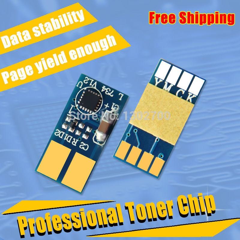 5SET C734A2KG/CG/MG/YG toner cartridge chip For lexmark C734 C736 X734 X736 X738 C730 C 736 734 730 X 738 powder refill reset