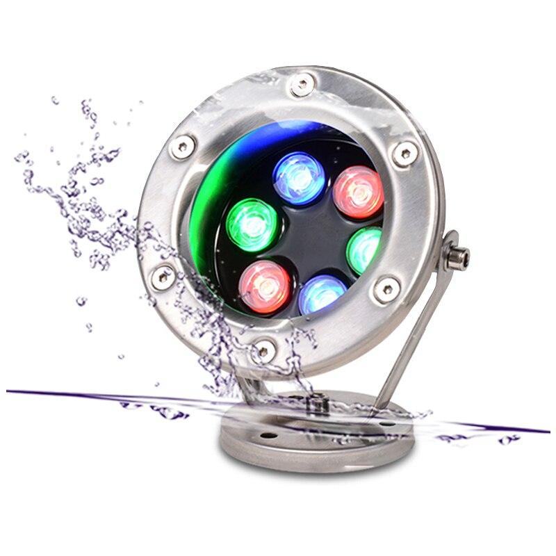 2018 Acero inoxidable 12V IP68 impermeable LED Luz de piscina subacuática lámpara Spa sauna lago patio estanque bombilla de iluminación