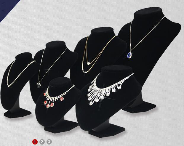 عرض مجوهرات أسود مخملي ، تمثال نصفي ، للعارض ، 6 خيارات ، عرض مجوهرات ، قلادات ، عارضة أزياء ، منظم