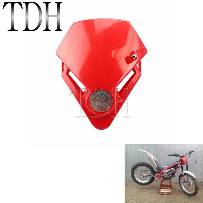 Mini faro triangular para motocicleta, luz LED roja para moto de cross,...