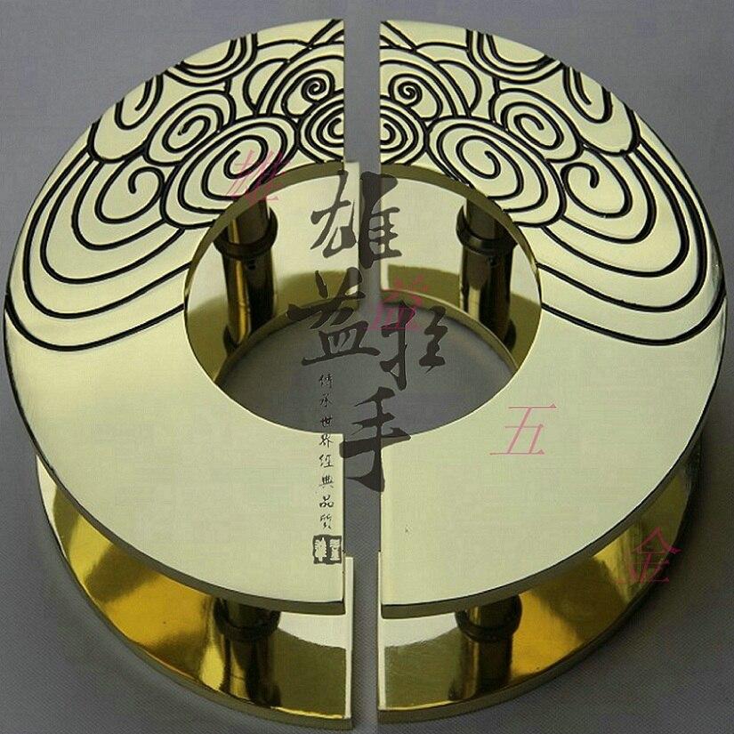 مقابض أبواب من التيتانيوم ، نحت خشبي ، سحابة ، نصف دائرية ، مقبض ، تكنولوجيا صينية عتيقة حديثة
