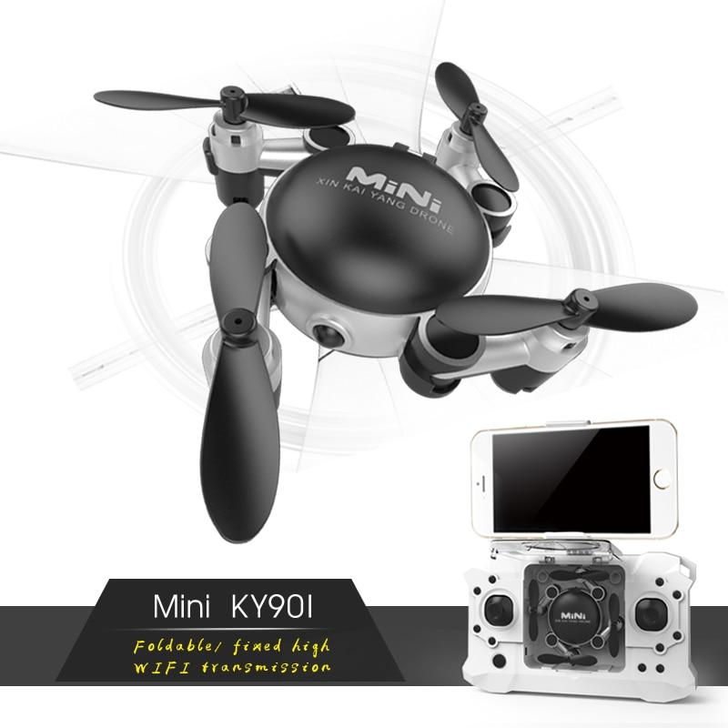 Profesional RC helicóptero KY901 WiFi FPV RC Quadcopter Mini Dron plegable Selfie Drone con HD wifi Cámara del H37 H31