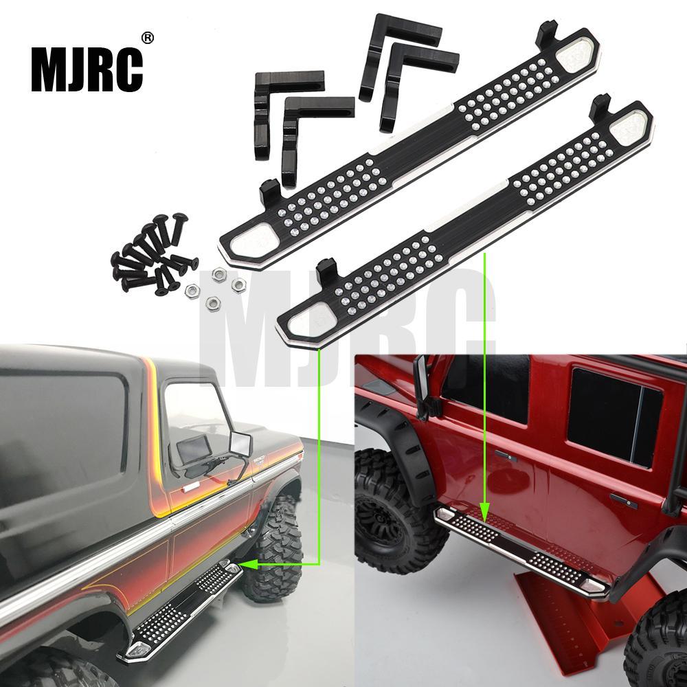 Pedal lateral de metal de aluminio MJRC de 2 piezas para TRAXXAS Trx-4 TRX4 1/10 escala RC crawler piezas mejoradas