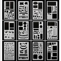 journal stencil plastic planner stencils journalnotebookdiaryscrapbook diy drawing template stencil 4 x 7 inch12 pcs