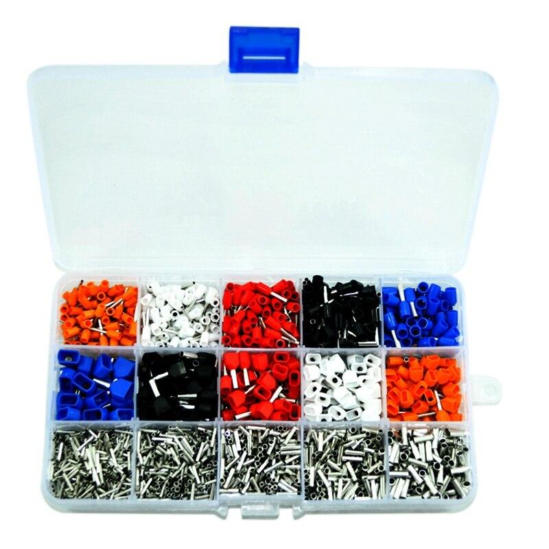 Kit de férula mixta THGS 2340 unids/lote, crimpadora eléctrica, cable, extremo de cable, bloque de terminales