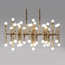 Lampes suspendues pour salle à manger Jonathan Adler Meurice lampadaire design moderne lampe suspension éclairage Tube de fer led lampes suspendues