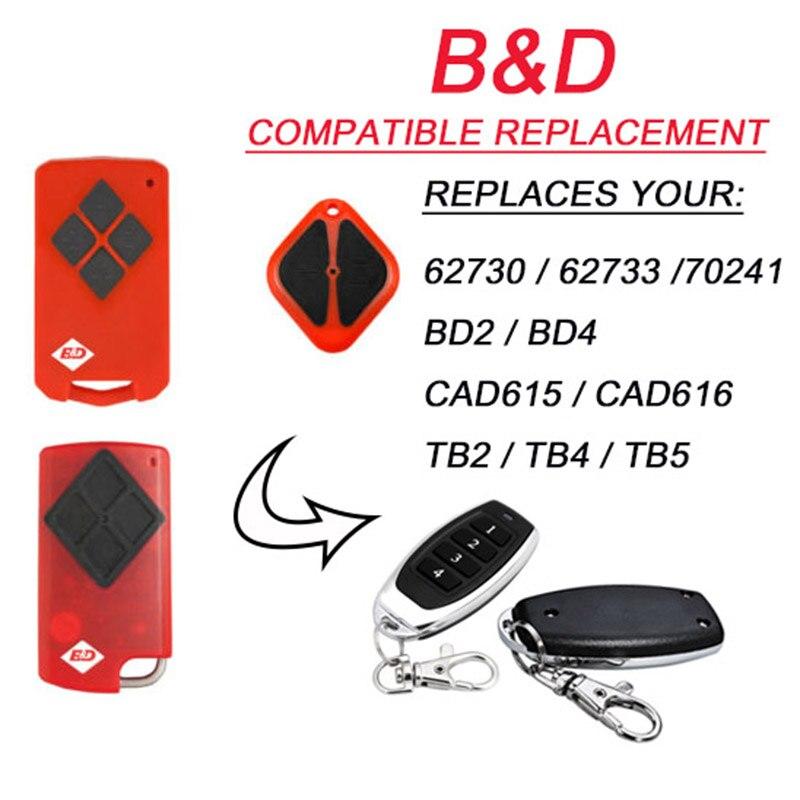 Para B & D PTX5 PTX-5 Tritran Tri Tran puerta de garaje BND TB5 BD4 BD2 reemplazo remoto muy bueno