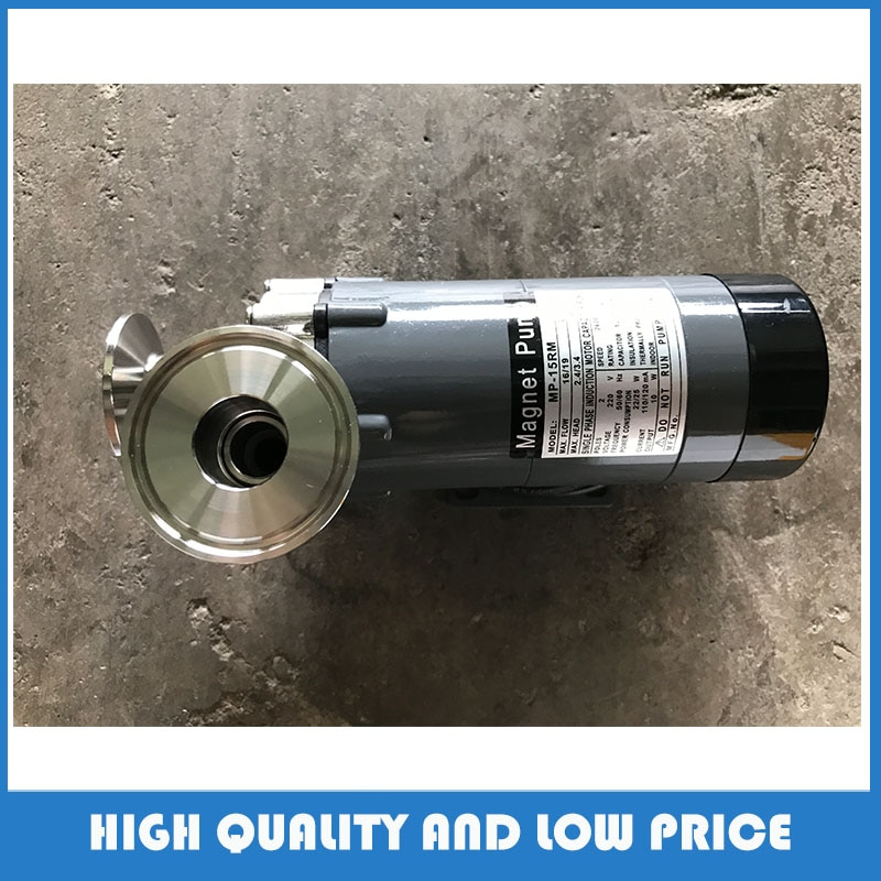Bomba de aumento de calidad alimentaria 15R bomba de circulación de cabeza de acero inoxidable para cerveza elaborada