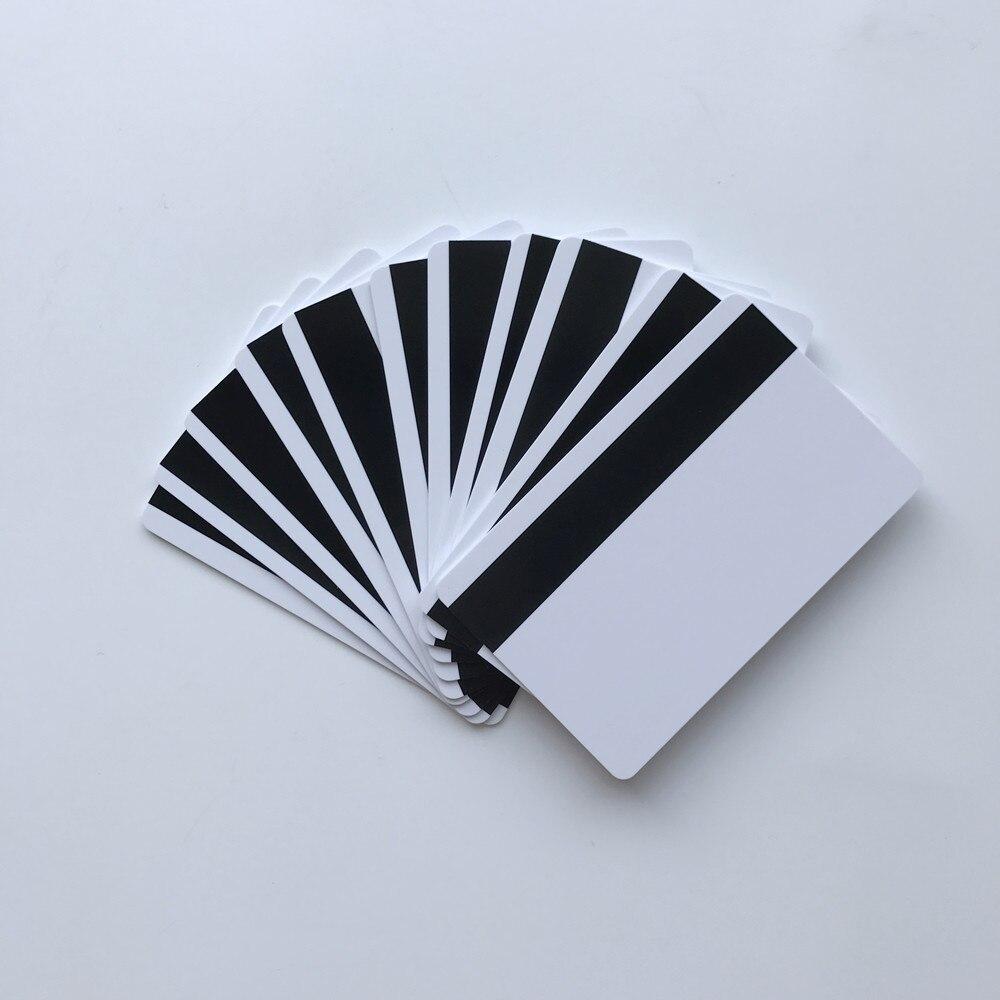 1000 Uds. Tarjetas de identificación de PVC de inyección de tinta HICO Mag en blanco, doble cara estampada