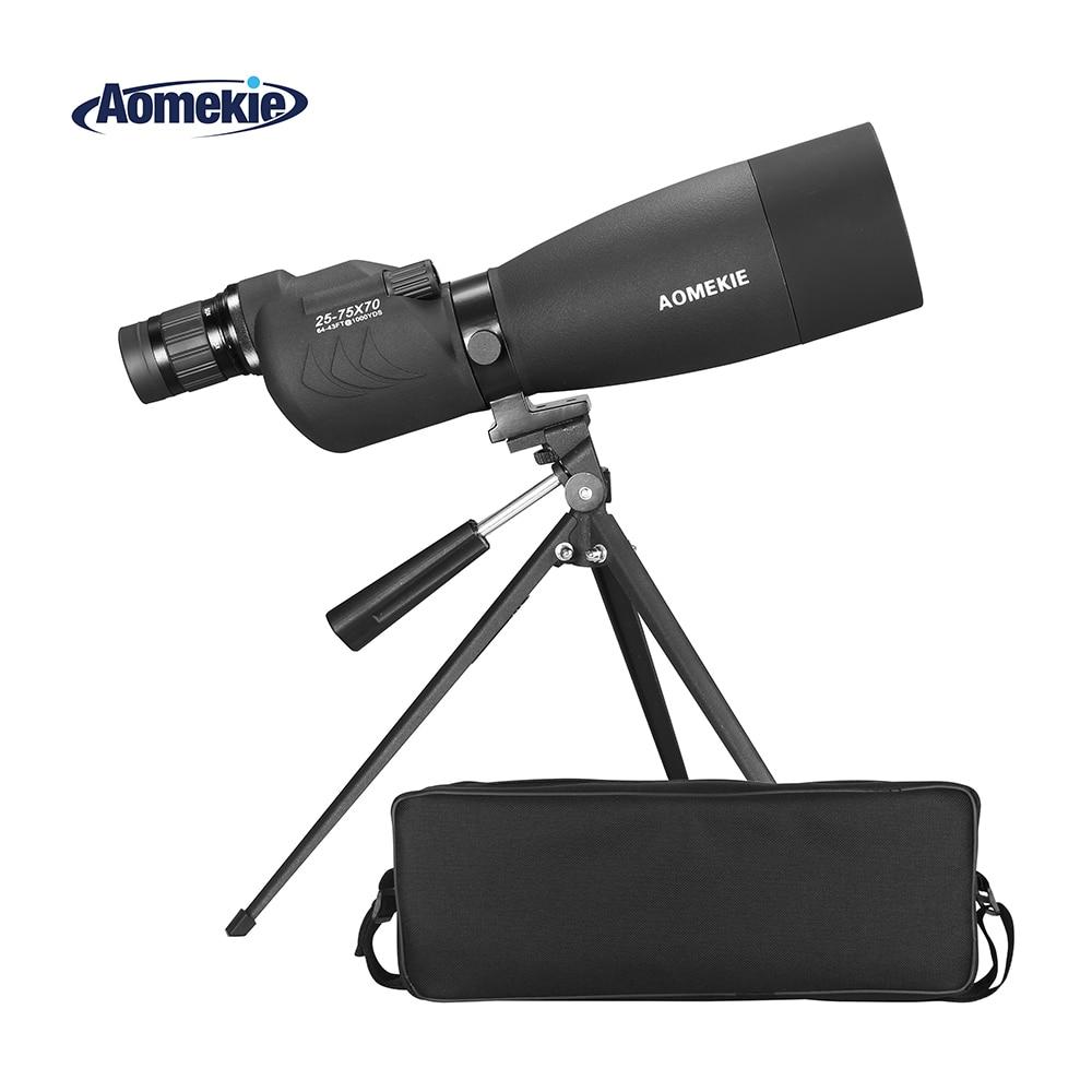 AOMEKIE 70mm Lens Spotting Scope 25-75X Zoom with Tripod for Bird Watching Hunting High Power Monocular Telescope BAK4 Prism