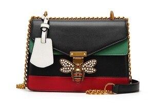 Новые модные женские сумки контрастного цвета с изображением пчелы модные дизайнерские сумки повседневные сумки через плечо
