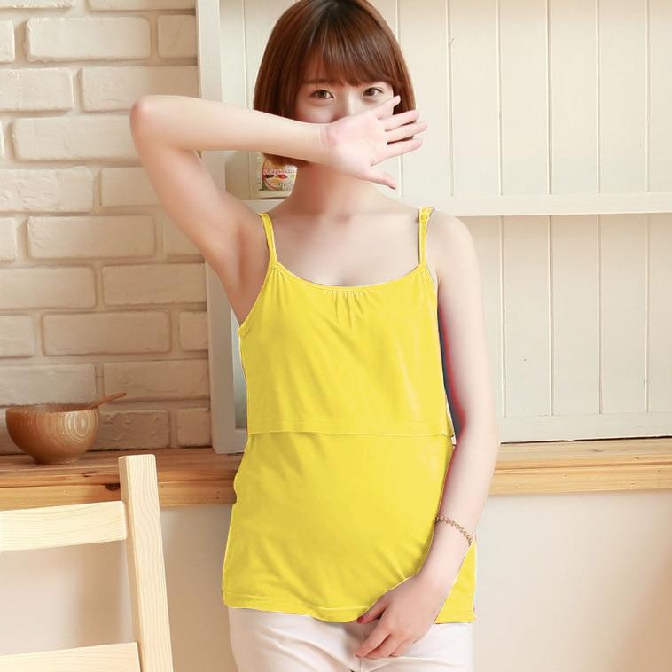 New explosion models adjustable breastfeeding strap modal vest pregnant women bottoming breastfeeding home underwear camis enlarge