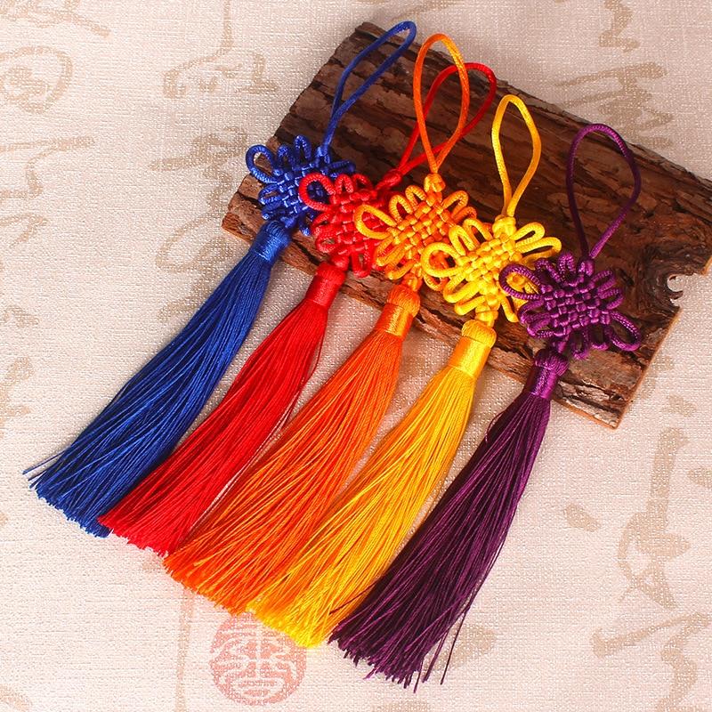 2pcs/lot Chinese Knot Tassel silk fringe bangs flower tassel trim decorative Garment for curtains home decoration accessories