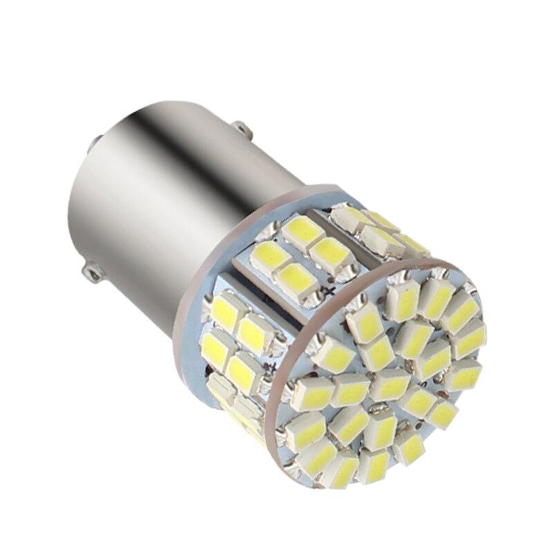 1x Super brillante BA15S 1156 Led 50SMD 1206 luz de freno de coche P21W las señales de giro lámparas 1156 Led aparcamiento trasero inversa S25 bombillas