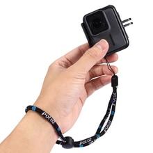 Cordon de corde de lanière de main de chaîne de bracelet de sécurité réglable en Nylon portatif pour la caméra de Sport de GoPro Hero 8/7/6/5/4 Sjcam sj4000 YI