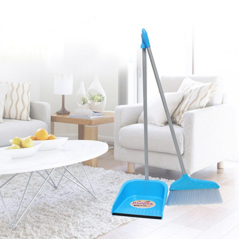 Escoba de plástico y pala set combinado productos de limpieza del hogar suave escobilla de limpieza cepillo no palo barrer el pelo magia