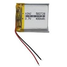 XINJ 3.7 V 400 mAh batterie Lithium polymère accumulateur Li ion li-po cellule 582728 pour MP4 E-book conduite téléphone montres tablette PC