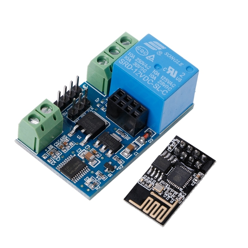 Disjuntores acessórios 12v esp8266 2bit wifi relé iot casa inteligente controle remoto aplicativo móvel