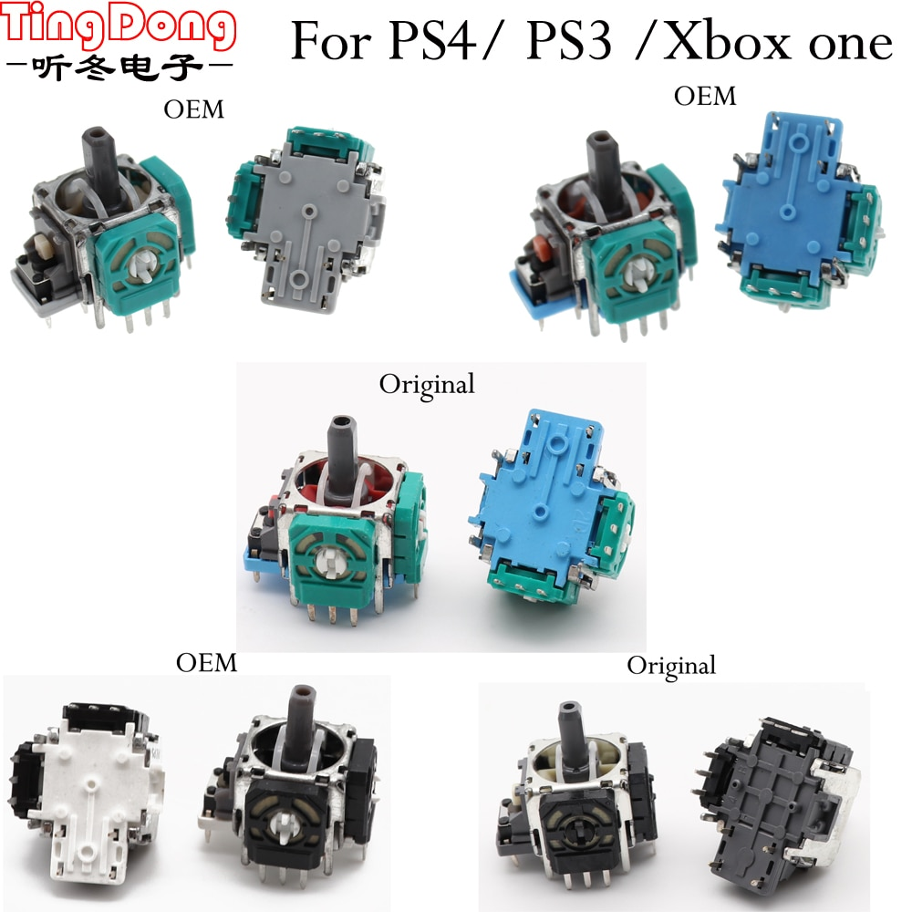 3Pin 3D Rocker 3D Analog Joystick Sensor Module for PlayStation 4 Controller for PS4 PS3 for Xbox one Controller
