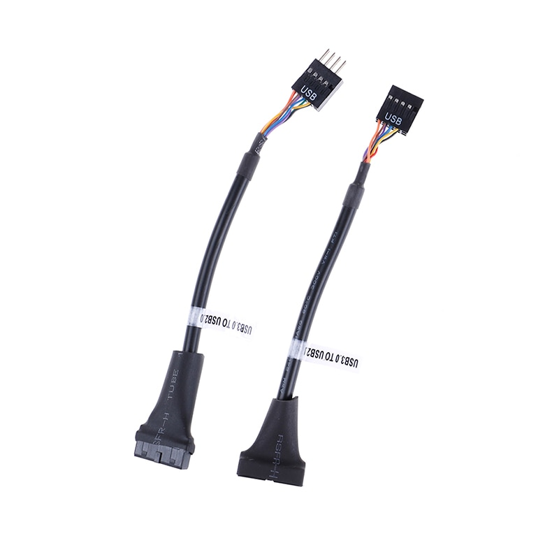 Conector de placa base de 20 pines a Usb 2,0 Cable adaptador de 9 pines para ordenador PC USB 3,0