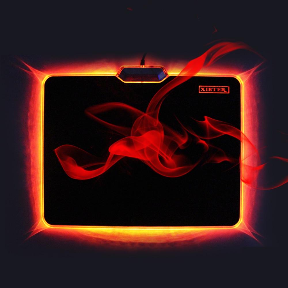 Marca xibter mouse pad gamer borracha e pvc material design exclusivo luz mousepad para csgo dota overwatch ratos esteira preço de fábrica