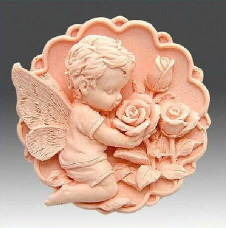 Molde de jabón de silicona para manualidades, moldes de jabón hechos a mano para bebés y rosas