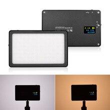 Mini LED vidéo studio lumière caméra photographie lampe 3500 K-5700 K Dimmable intégré batterie Rechargeable pour appareil photo reflex numérique Canon